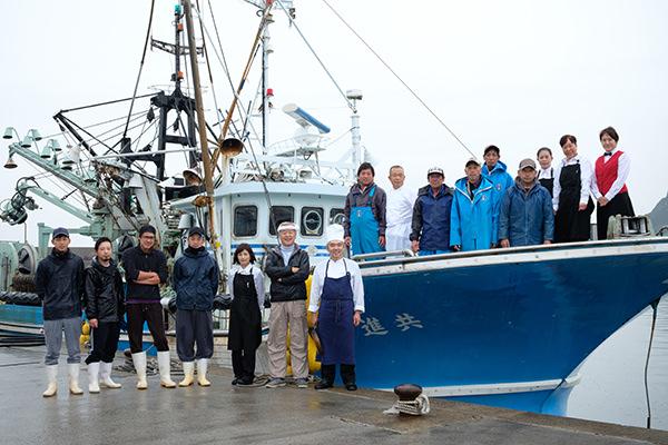 「鐘崎漁港」から仕入れの新鮮な魚達